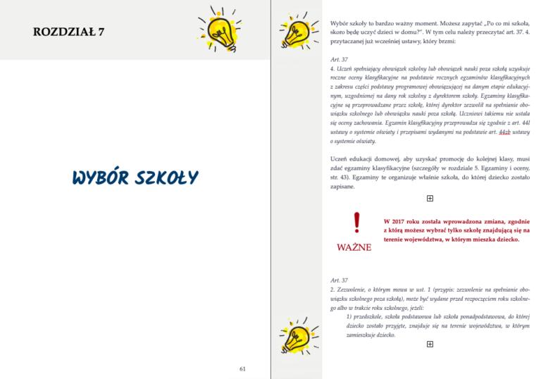 E-book edukacja domowa - wybór szkoły