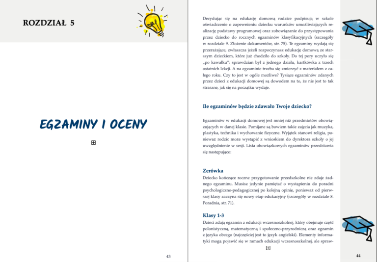 e-book Jak zacząć edukację domową krok po kroku - egzaminy i oceny w edukacji domowej