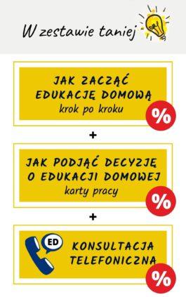 Zestaw ebooków o edukacji domowej wraz z konsultacją telefoniczną